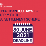 Less than 100 days to apply to the EU Settlement Scheme